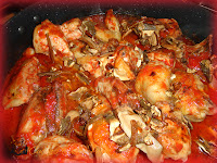 Pollo in umido con funghi porcini