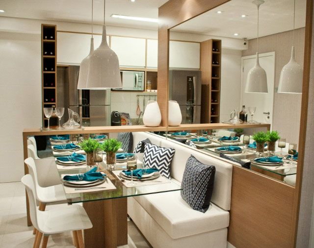 Amor de sala de jantar jeito de casa for Salas modernas pequenas para apartamentos