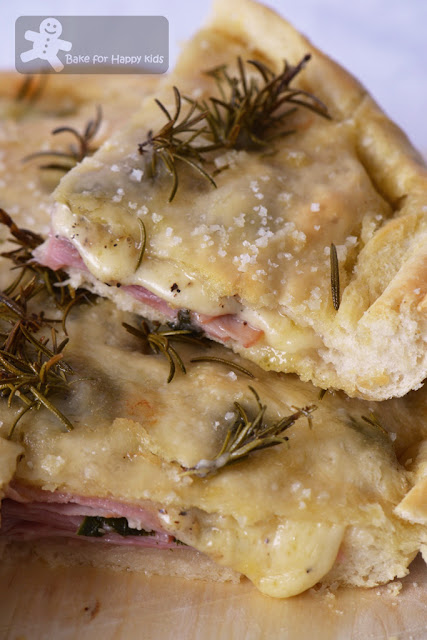 focaccia ham melted cheesy cheese gruyère Delia Smith