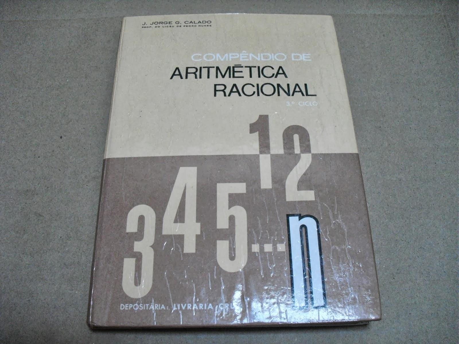Compêndio De Aritmética Racional 3º Ciclo - J. Jorge G. Calado