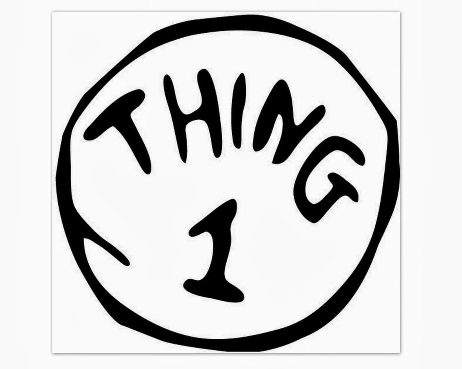 Superb image with thing 1 and thing 2 logo printable