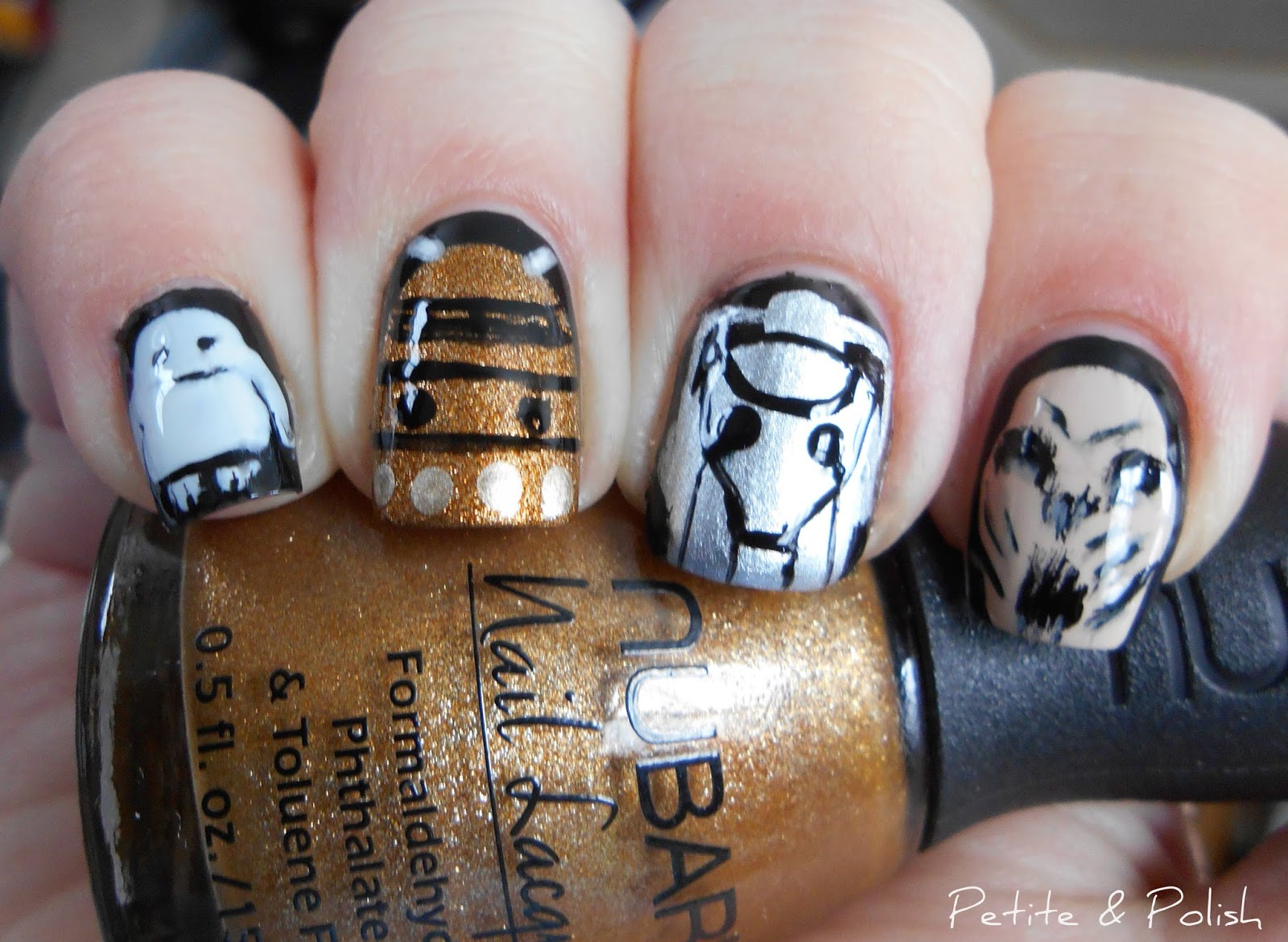 Petite & Polish: Nail Art A-Go-Go, Day 9: Inner Geek...Doctor Who!
