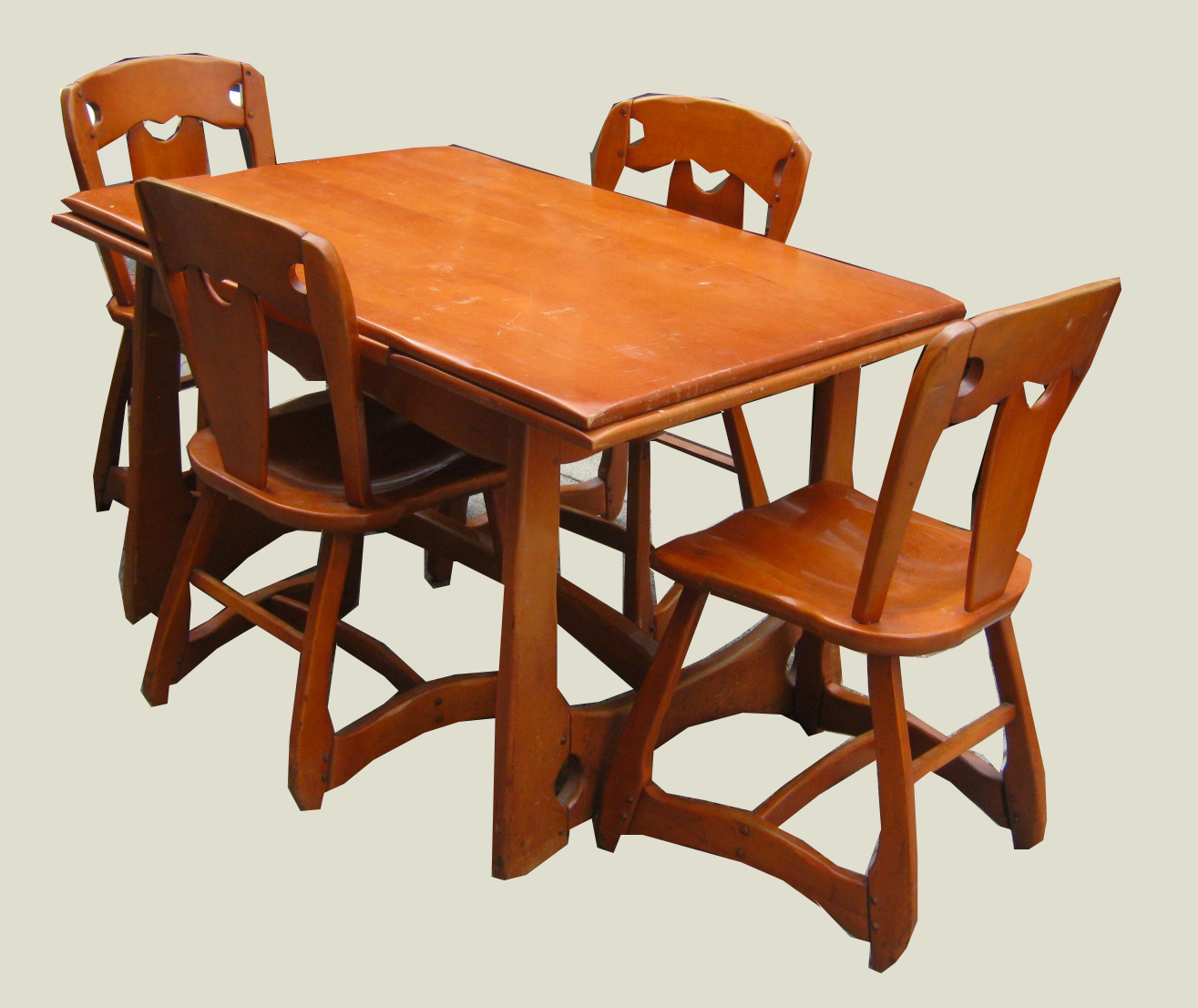 Uhuru furniture collectibles 1940 39 s rock maple dining for Dining room tables 1940s