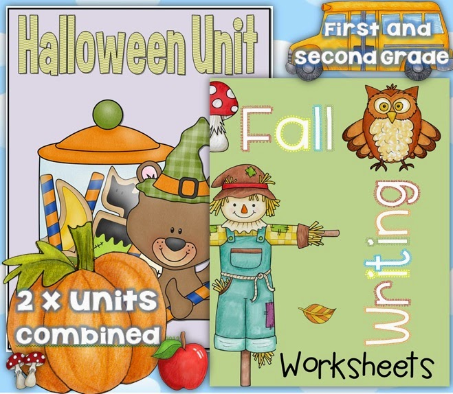 Fall and Halloween Units Combo for First and Second Grade