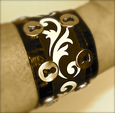 Duct tape bracelet by Lisa Fulmer