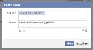 Kirim Email Lewat Facebook