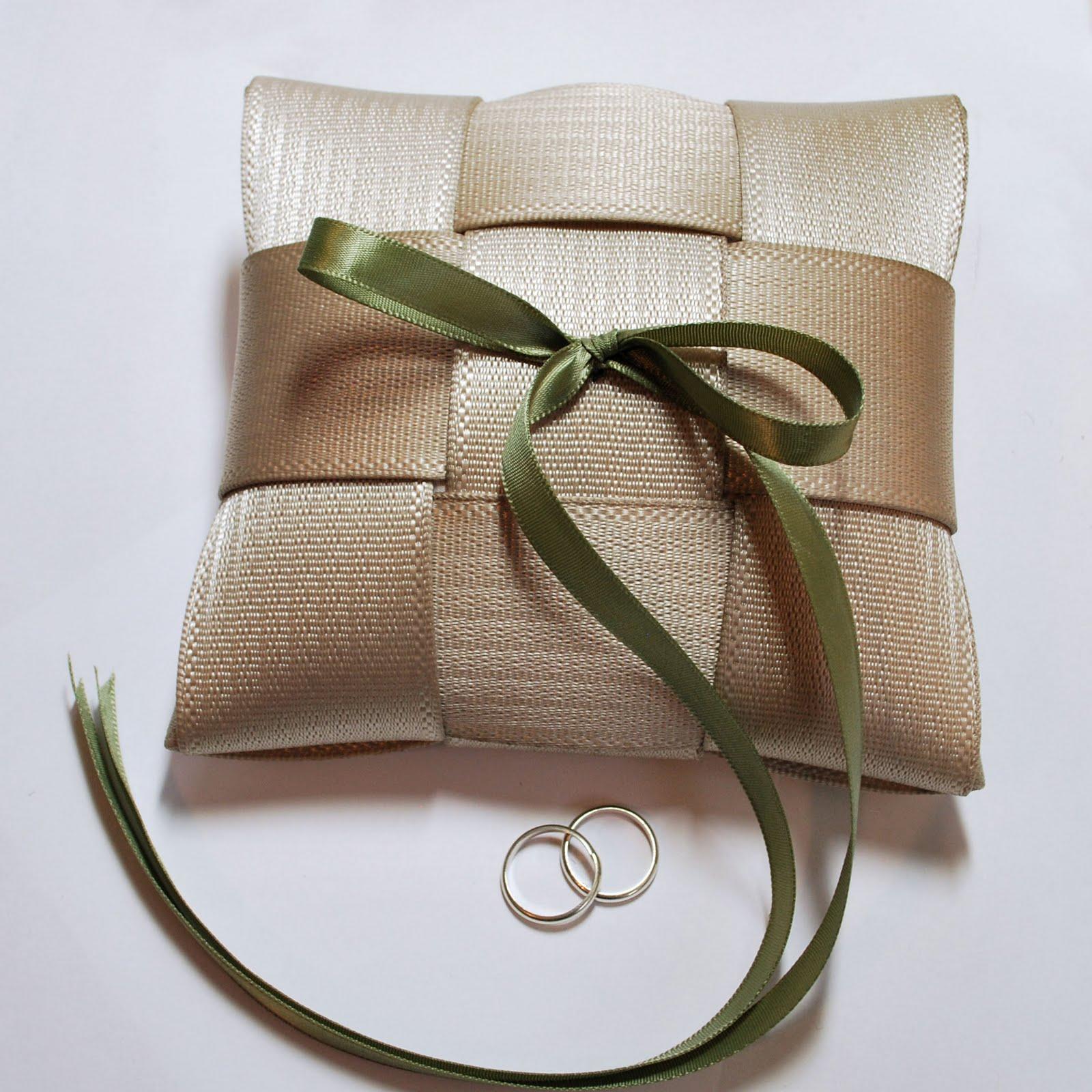 alamode stuff seatbelt ring bearer pillow adds a personal