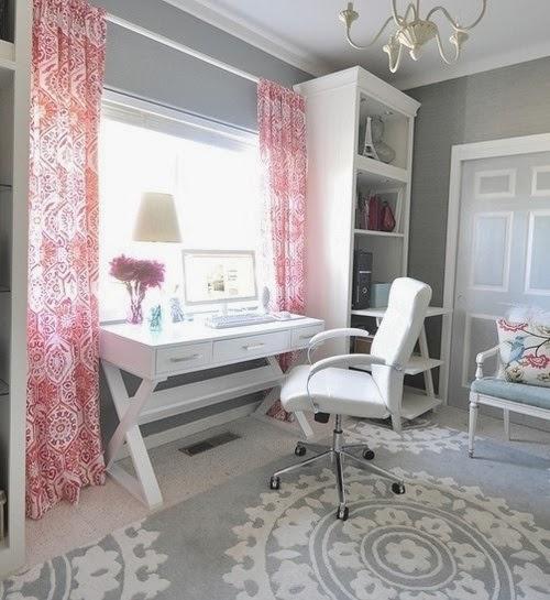 foto oficina rosa y gris