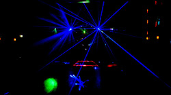 Lasers at the Roller Disco