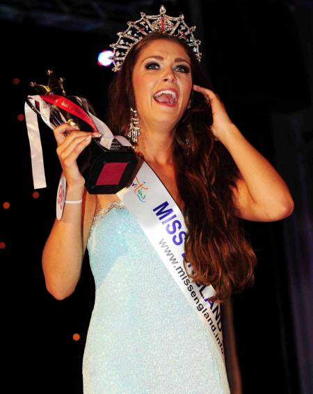 Miss England 2012 winner Charlotte Holmes