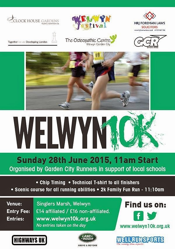 Welwyn 10k run & 2k fun run - June 2015