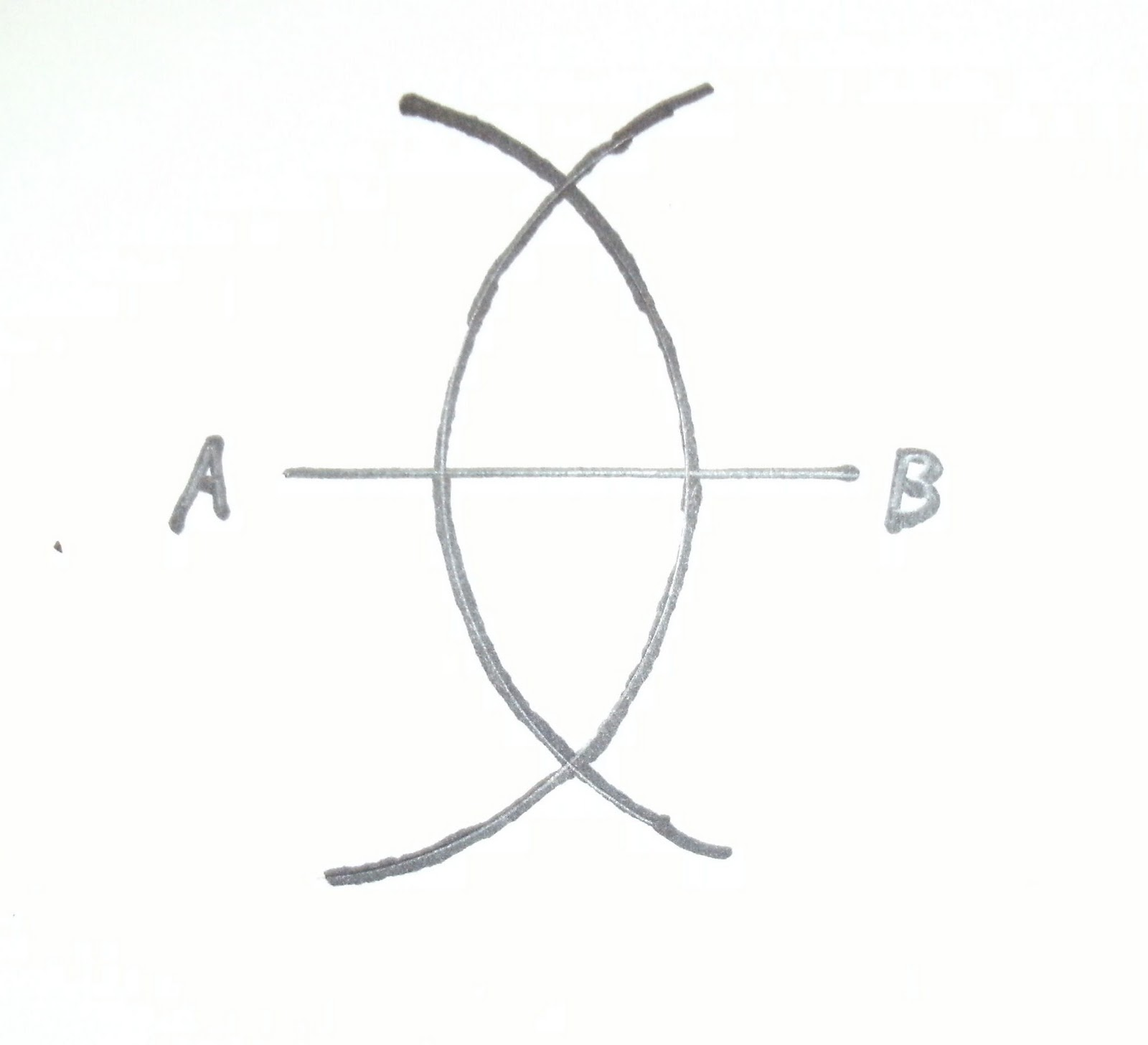 Drawing Perpendicular Lines With A Compass : Rocky meets euclid or how to bisect a line segment