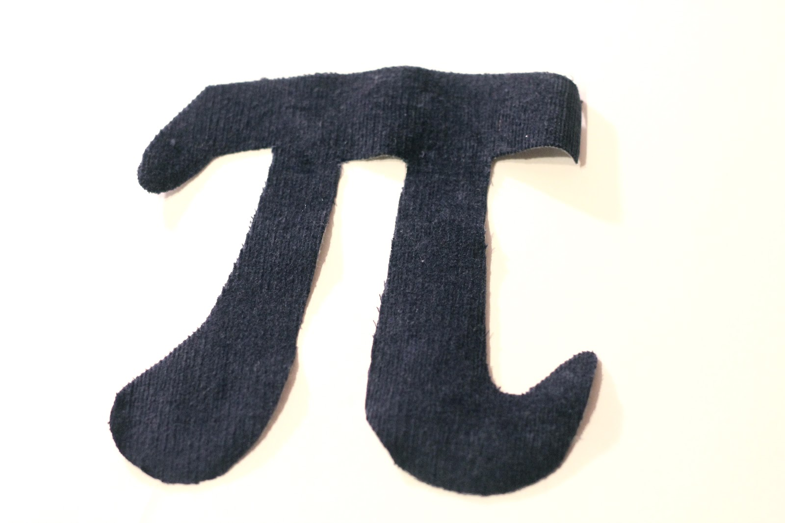 Make a pi symbol shirt tutorial for Pi character