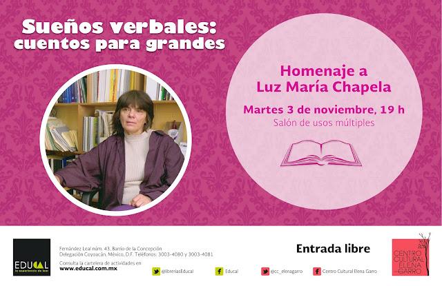 Homenaje a Luz María Chapela en el Centro Cultural Elena Garro