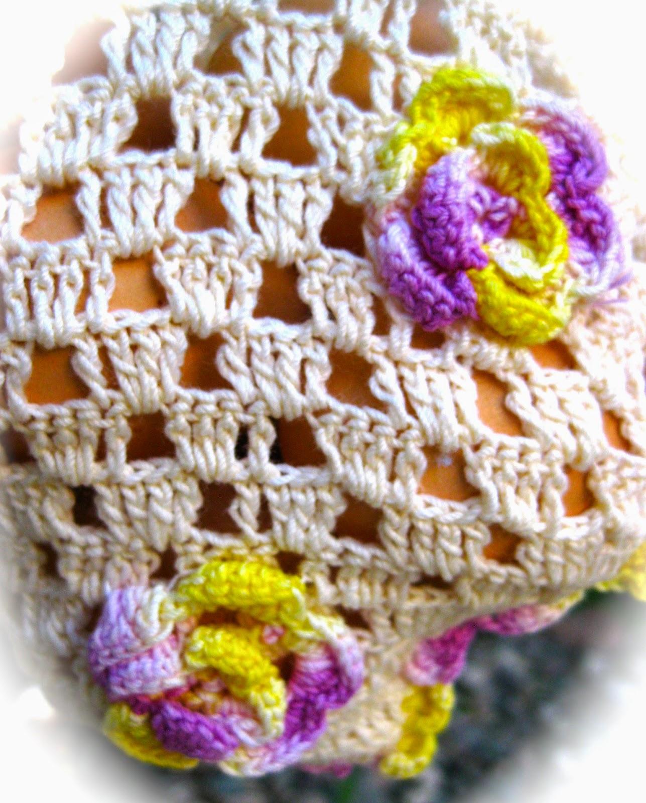 Crochet Egg Basket : The Beehive Cottage: Crocheted Egg Basket For Gathering