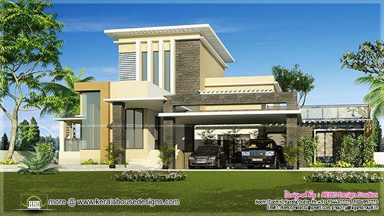Modern flat roof home