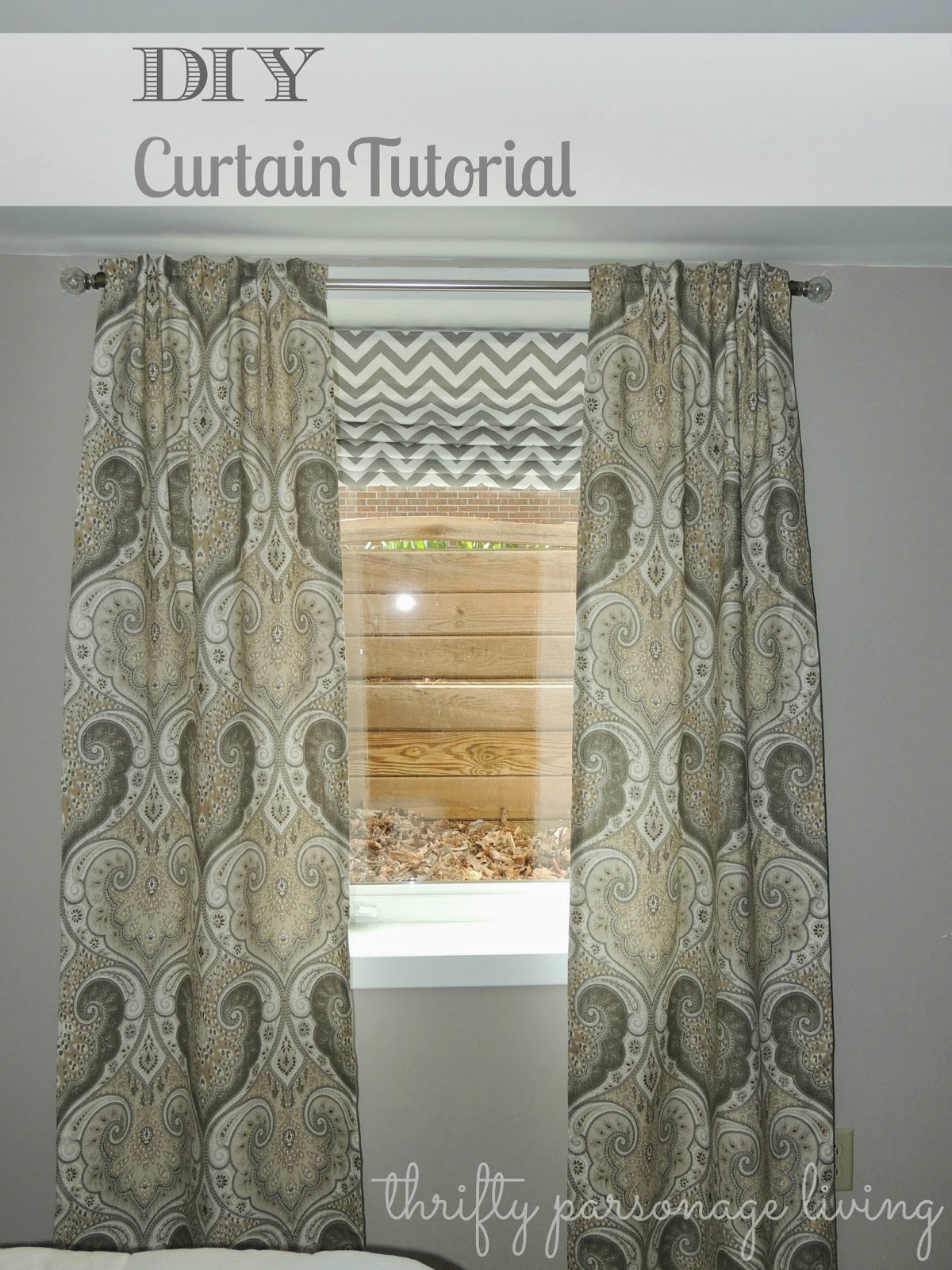 thrifty parsonage living how to make lined curtains diy. Black Bedroom Furniture Sets. Home Design Ideas