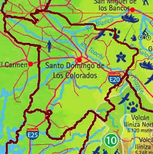 mapa de santo domingo ecuador