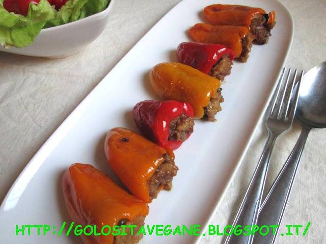 peperoni, pane, latte di soia, olive, capperi, tamari, aglio, ricette regionali, ricette vegan, Secondi, ripieno,