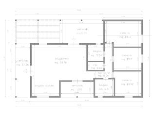 Progetti di case in legno casa 139 mq porticati 50 mq for Progetti di case