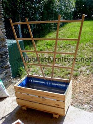 La jardinera de manou hecha con palets - Estructuras con palets ...