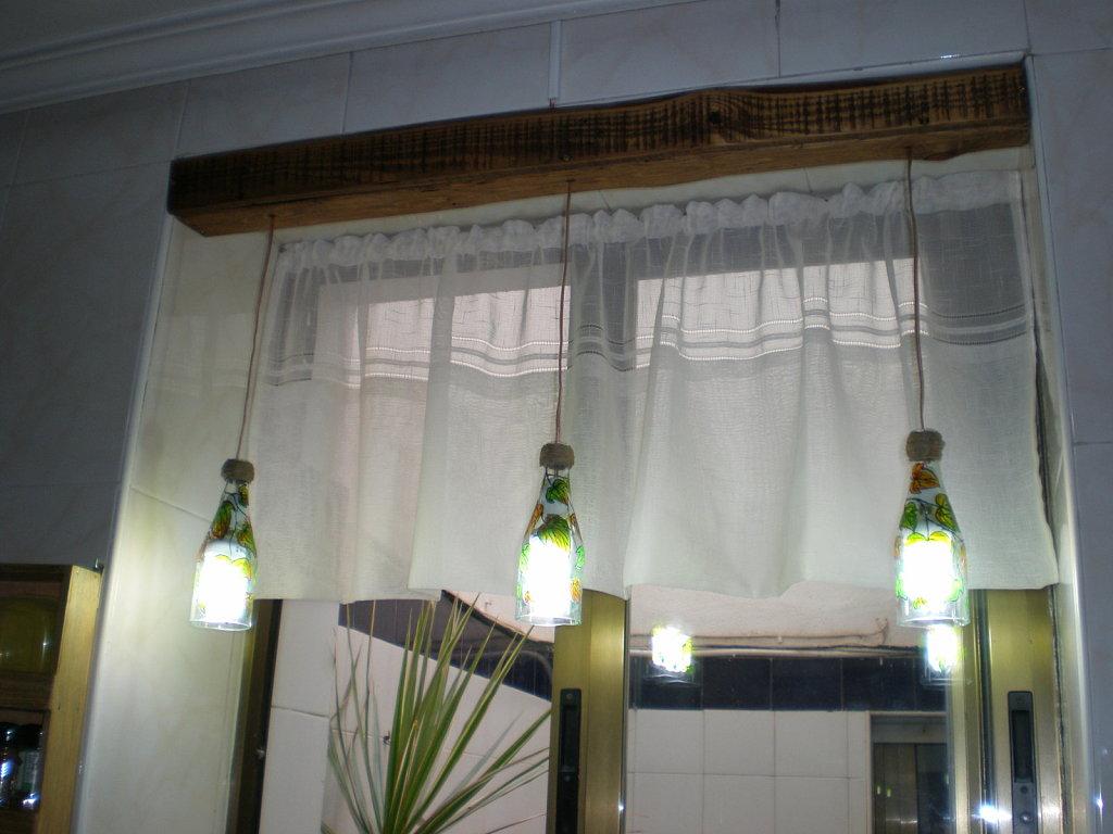 Arte y arquitectura dise o reciclado l mparas con - Lamparas de techo hechas en casa ...