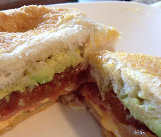 Not Your Usual Grilled Cheese No. 2: Stuffed With Bacon, Tomato, Avocado