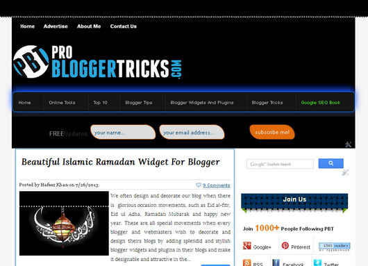 Devil Premium Blogger Template