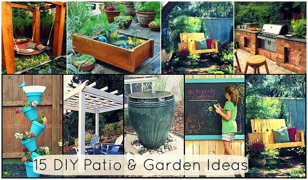 15 Creative DIY Patio and Garden Ideas