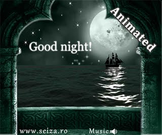 Felicitare animata de noapte buna