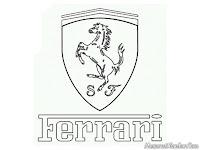 Gambar logo mobil Ferrari untuk diwarnai