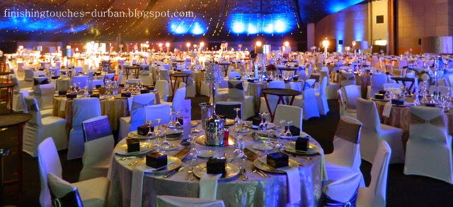 Durban chamber of commerce industry finishing touches for Annual dinner decoration