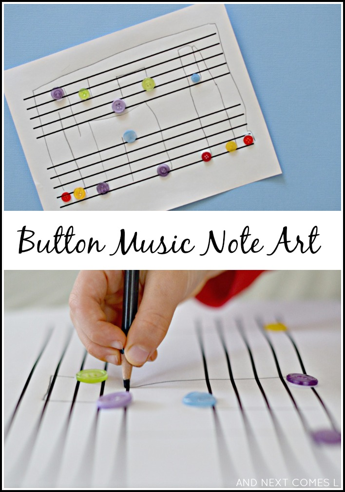 Button Music Note Art Fine Motor Fridays And Next Comes L