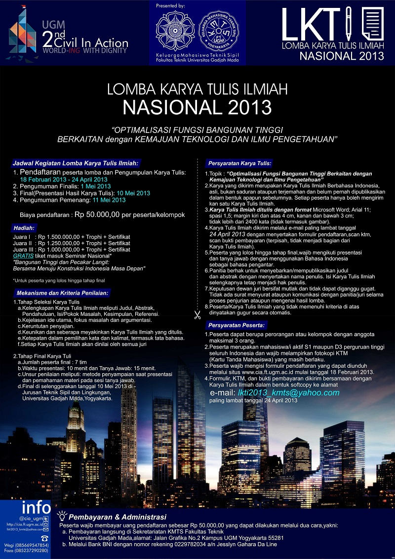 lomba karya tulis ilmiah nasional 2013 2nd civil in action