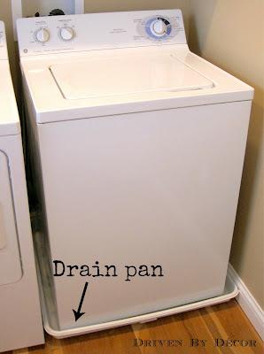 wash machine overflow pan