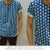 Baju Distro & Baju Kemeja Blue Pulkadot