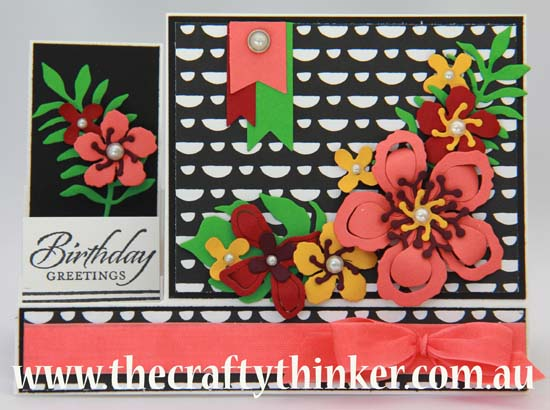 SU, The Crafty Thinker, Modern & bold hand made card,