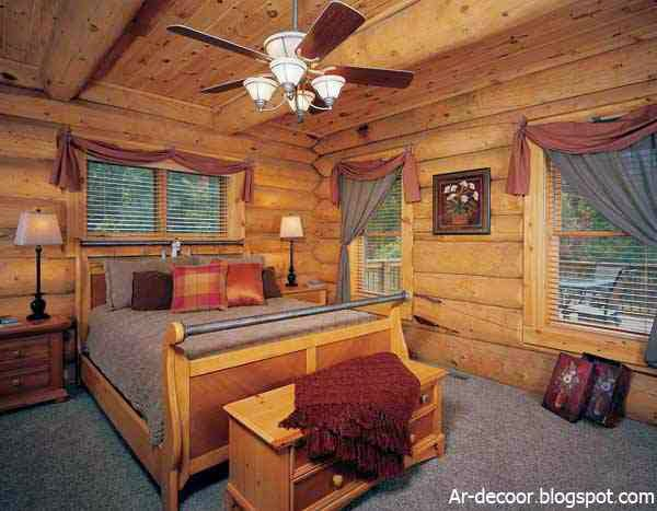 غرف نوم خشب رومانسية ومريحة   ديكورات غرف نوم خشبية