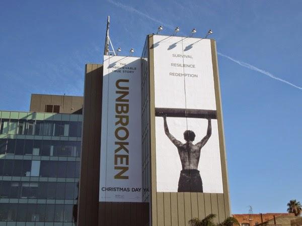 Giant Unbroken movie billboard