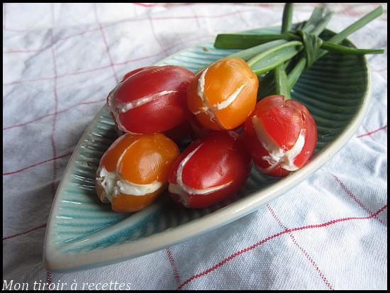 tomates cerises tulipes