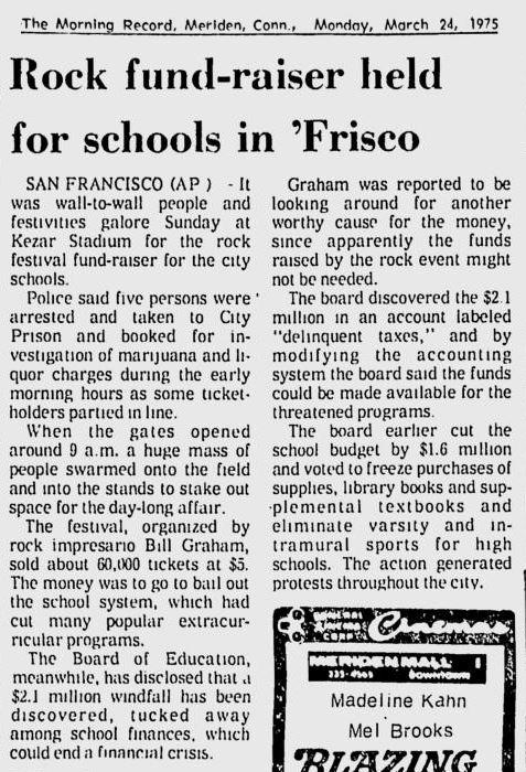 The Morning Record - 24. März 1975