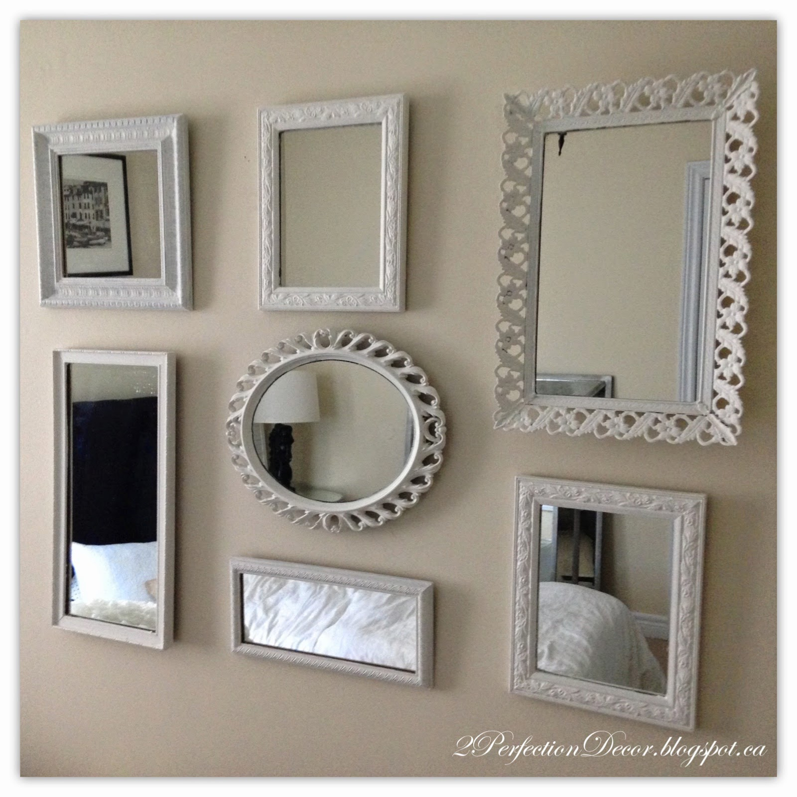 2Perfection Decor: Painted Mirror Collage