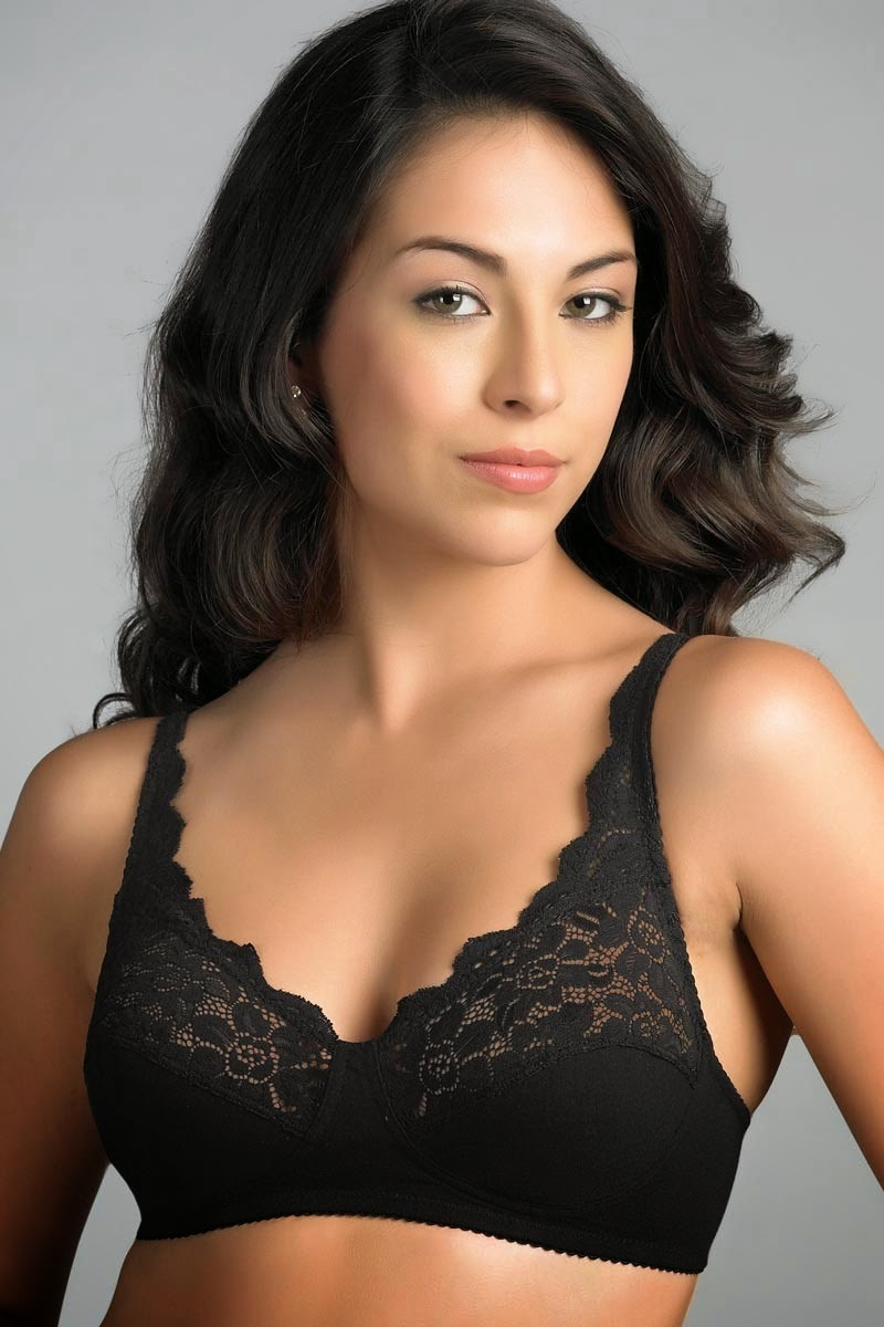Beautiful lace overlay on the cute polka dots is a perfect mix of elegance and fun.Under wired and lightly padded and pushup for shaping and support.The demi cup style is cut in a half plunge style to showcase your cleavage.Perfect for sophisticated everyday wear.