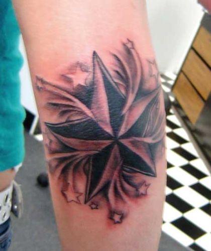 Nautical star tattoo art for Nautical star tattoo design