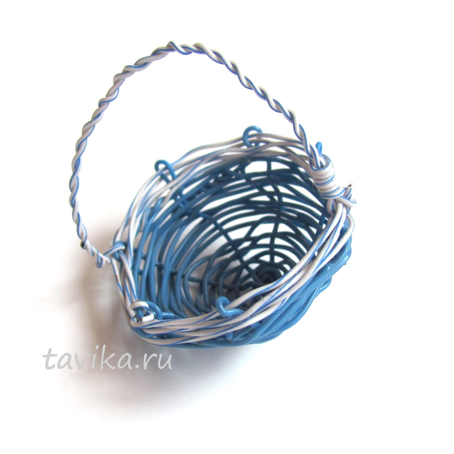 Плетение корзинок из проволоки своими руками 8