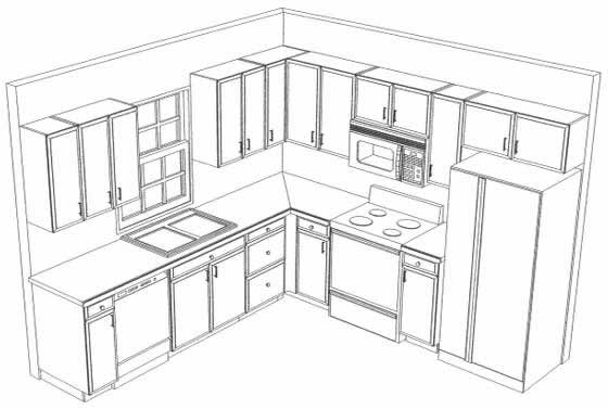Kitchen layout pictures of kitchens for Draw my kitchen layout