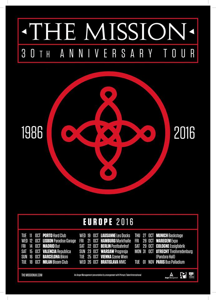 The Mission - 30th Anniversary Tour