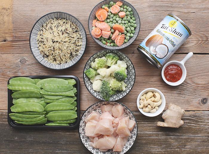 Thai Curry Hähnchen Zutaten