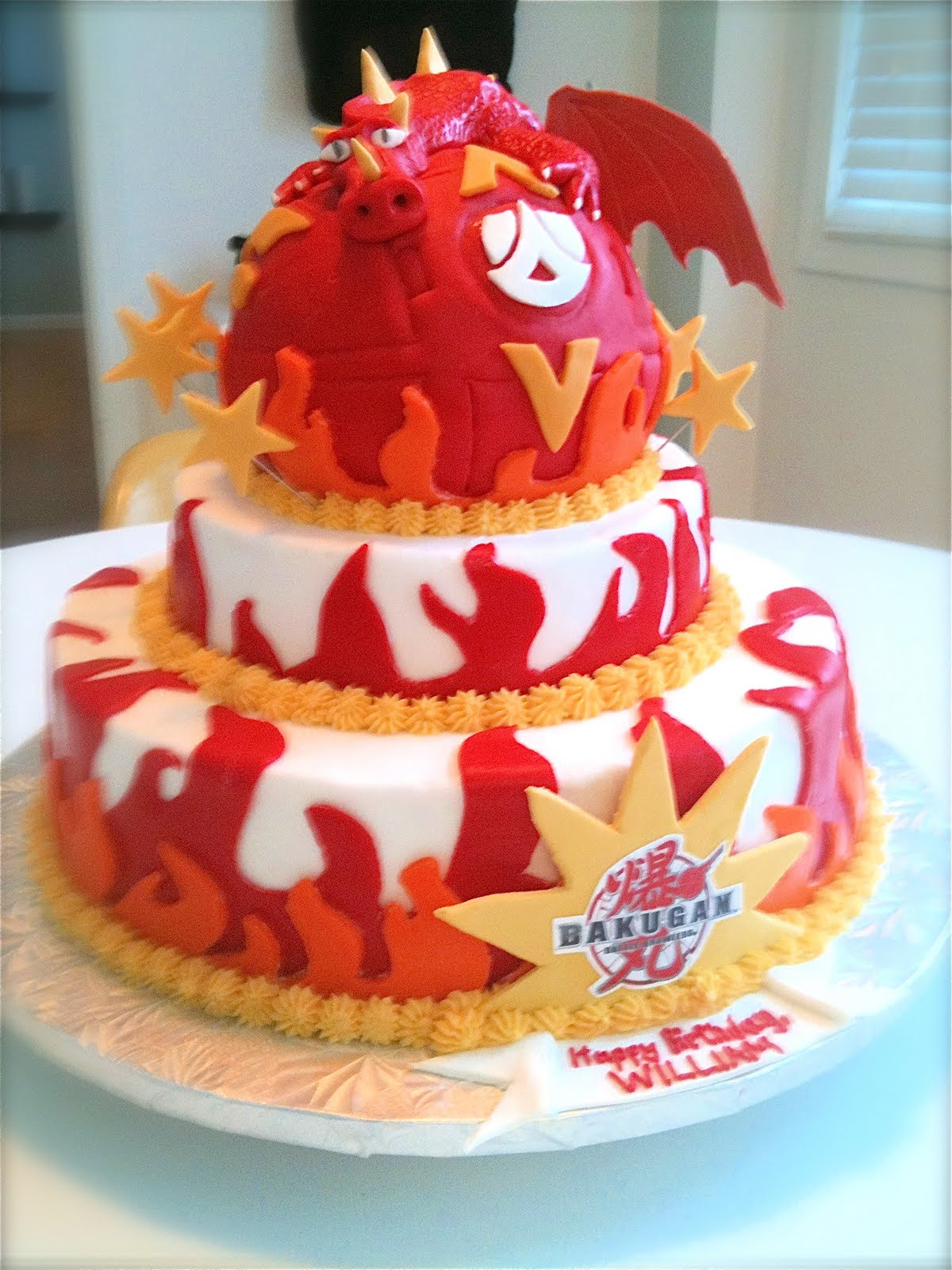 Megmade Cakes Williams Bakugan Cake