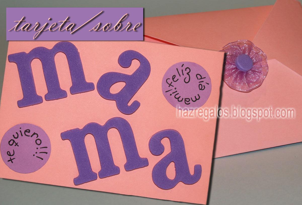 tarjeta sobre dia de la madre